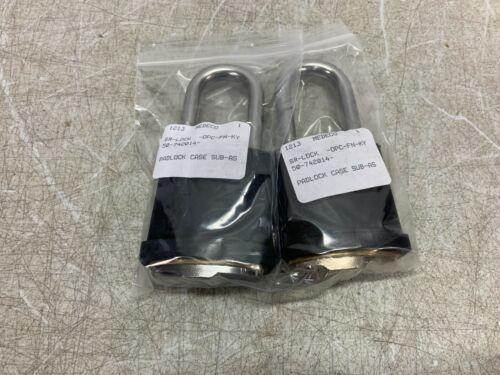"MEDECO Padlock 3/8"" x 2-1/8 Shackle No Cylinder 50-742014 New lot of 2"