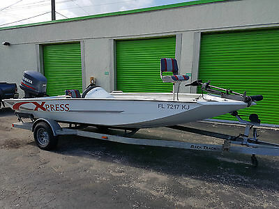 18 5 ft xpress aluminum boat w 150hp yamaha outboard for Yamaha motor boats for sale