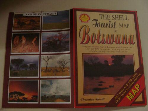 Shell Oil Tourist Map of Botswana Africa 1998