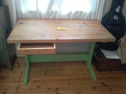 Sturdy timber desk Annandale Leichhardt Area Preview