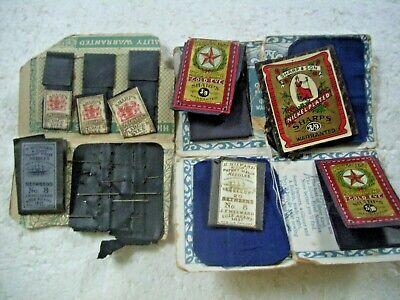 Lot of Vintage SHARPS PATY'S MILWARD Needles Family Combination Needle Case