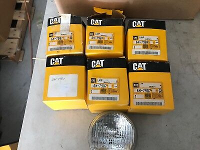 Two Genuine Caterpillar Cat 6n-7987 Lamps 60w New Old Stock