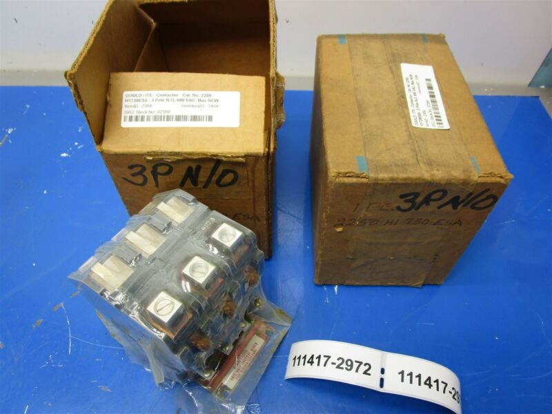 Gould 2250-H1730ESA Open Type 3 Pole Contactor New In Box Old Stock