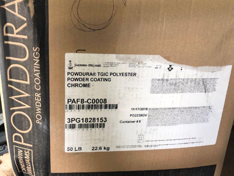 50 Pounds Of Sherwin-Williams Powdura TGIC polyester Powder Coting Chrome