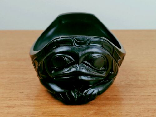 Haida Gwaii Resin Reproduction - Frog Condiment Bowl - CMC - MCC - Musee