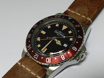 Davosa Ternos Vintage Diver GMT, Quartz, 39mm, Swiss, black dial