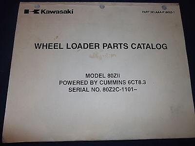 Kawasaki 80zii Wheel Loader Parts Catalog Book Manual Sn 80z2c-1101-up