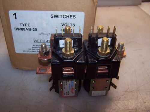 NEW CURTIS ALBRIGHT 48 VOLT CONTACTOR TYPE SW88AB-20
