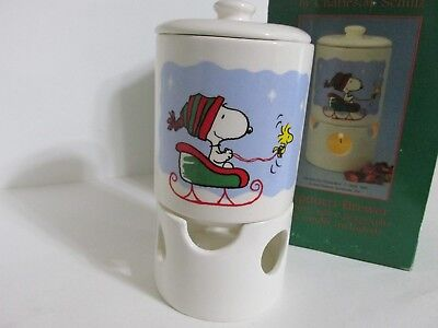 SNOOPY PEANUTS CHARLIE BROWN WILLITTS VINTAGE PORCELAIN POTPOURRI BREWER 1987