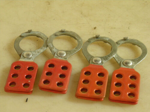 Lot of 4 ea. Lockout Hasps 6 Positions for locks (not included)