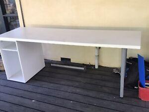 Large Study Desk - white ikea