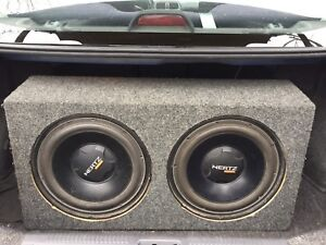 12 inch Subwoofers + 2 amps