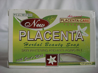 PSALMSTRE NEW PLACENTA HERBAL BEAUTY SOAP WITH GOAT'S MILK 135G EACH BAR  Beautiful Herbal Bar Soap