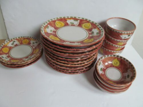 SOLIMENE VIETRI Campagna COW Dishes Made in Italy- dinner & salad plates & bowls
