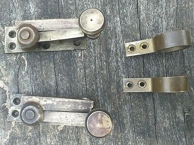 Brass antique window catches with three set of window pulls all original
