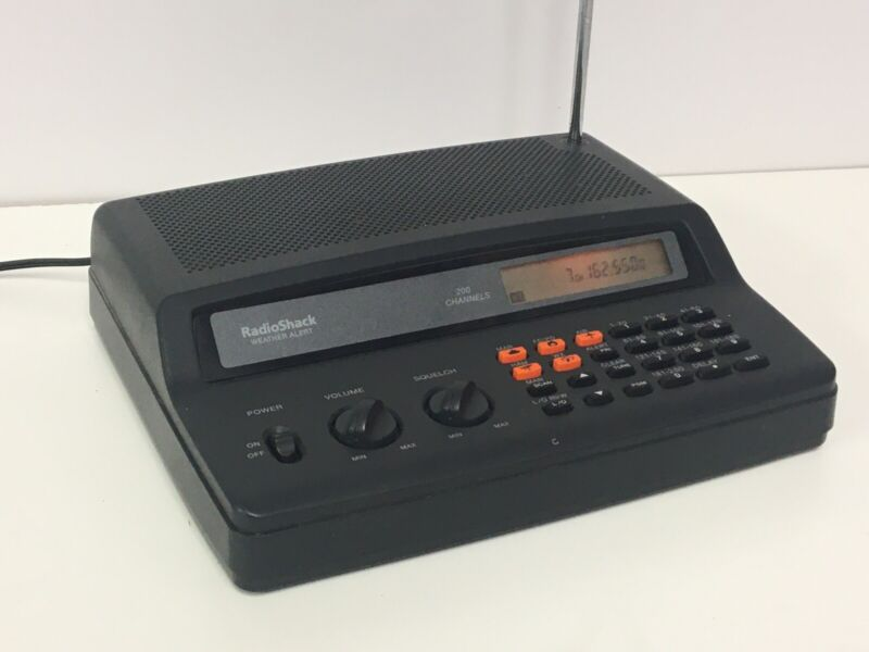 Vintage Radio Shack RadioShack Electronic Weather Alert Scanner With AC Adapter
