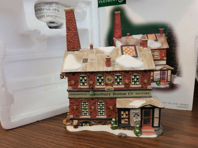 Dept 56 New England Village 2003 WATERBURY BUTTON COMPANY LTD ED 56666 Retired
