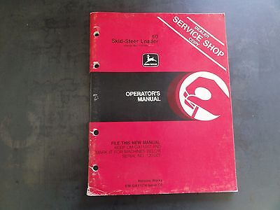 John Deere 60 Skid-steer Loader Operators Manual  Om-ga11574