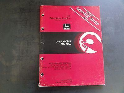 John Deere 60 Skid-steer Loader Operators Manual  Om-ga11574