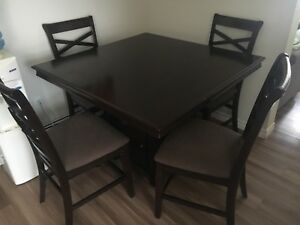 Ashley Furniture Pub Style Dining Room Table + 4 Chairs