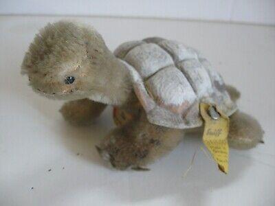 "Steiff Toy Turtle ""Slo"" Vintage 1960's Mini Tag Flag and Button"