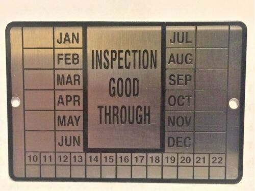 """100 Stainless Steel Metal INSPECTION TAGS  2 3/8"""" x 1 5/8"""" JAN - DEC 2010--2022"""