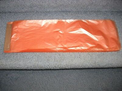 Poly Newspaper Bags 5000 Ct. Orange Tint. 5 12x17 0.4mil Perforate Bags.