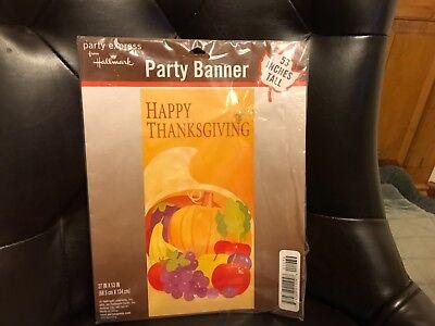 "Hallmark happy thanksgiving party banner 53"" tall - Happy Thanksgiving Banners"