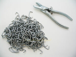RAZOR BARBED WIRE INTALLATION KIT HOG RING AND PLIERS