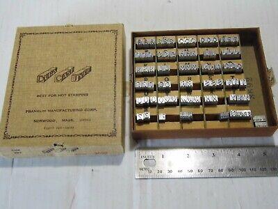 Franklin Hot Stamp Dura-cast-type Imprinting Stamp Set 3692