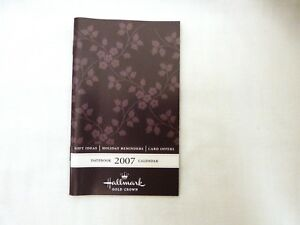2007 Hallmark Date Book, purple cover design, BRAND NEW condition, Vintage