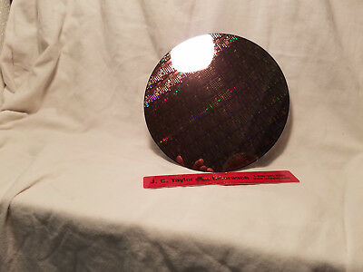 Silicon Wafer. 8microchip Pattern Waffer On Silicon