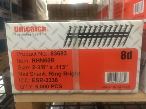 "2-3/8"" x.113 8d RS Smooth 21` Framing Nails 5000/Case Hitachi,DeWalt,Senco"