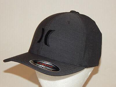 Hurley Black Textures Cap / Hat L/XL or S/M Flexfit Black/Grey 892018 024