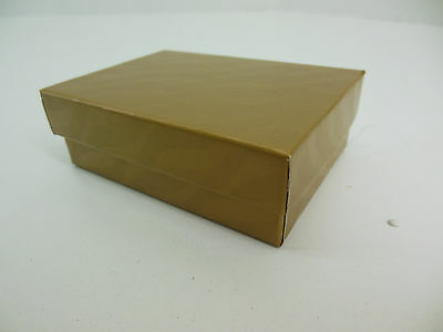 200 Jewelry Boxes Gift 32 Gold W Black Felt Ring Slot 3 116 X 2 18 X 1