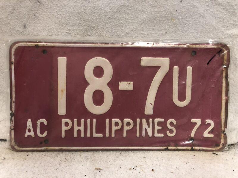 Vintage 1972 Philippines Philipit License Plate