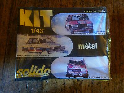 Solido , kit métal, Peugeot 104 ZS, réf.81K,choix de 3 décorations