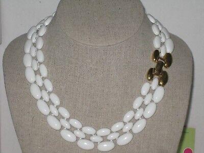 Napier Pat4.774.743 White Enamel Panther Style Choker Collar Necklace VintageNOS](White Panther Costume)