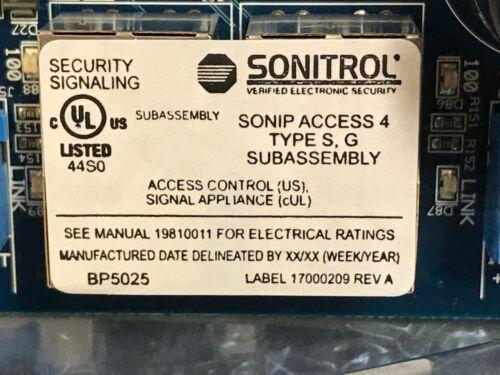 Sonitrol  Sonip Access-4 Type S. G  NEW