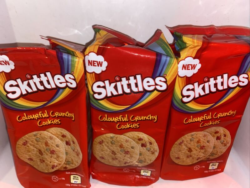 rare skittles Colorful Crunchy Cookies 🍪