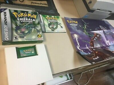 Pokemon Emerald Version (Game Boy Advance, 2005)Box, Manual, New Battery, Tested