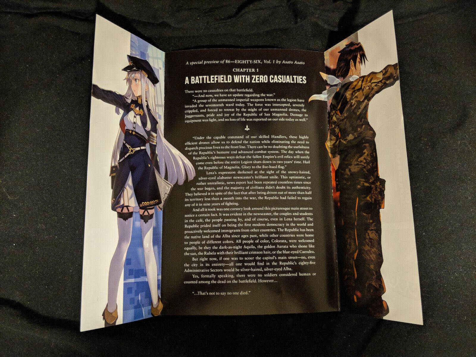 RARE 86 - EIGHTY-SIX Promo Manga Preview Asato Asato Yen Press. Official Promo  - $8.99