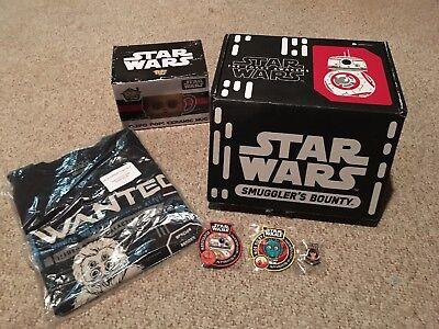 Star Wars Smugglers Bounty Box w/ C-3PO Shirt Size Small Lot Funko