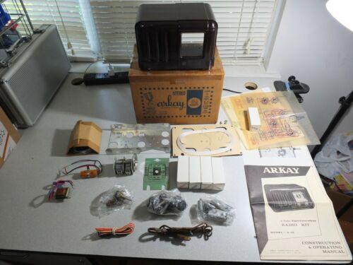 Arkay 5 Tube Superheterodyne Radio Kit Model S-5E UNBUILTw/Orig. Box, Paper Work