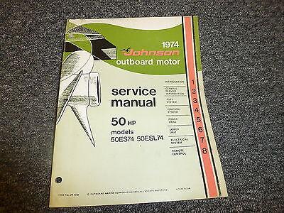 1974 Johnson 50 HP Models Outboard Motor Shop Service Repair Technical Manual
