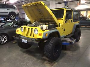 Manual  Jeep Tj 4.0L  (e-tested) as is