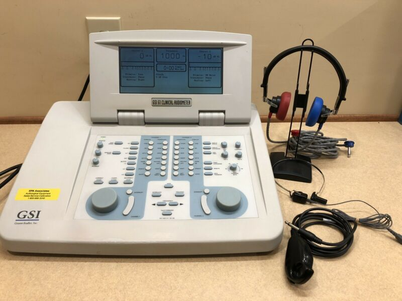 GSI 61 Clinical 2 Channel Audiometer Complete w/ NEW Calibration Certificate
