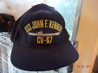KENNEDY CV-67 BATTLESHIP Flexfit flex fit Cap Hat USS JOHN F