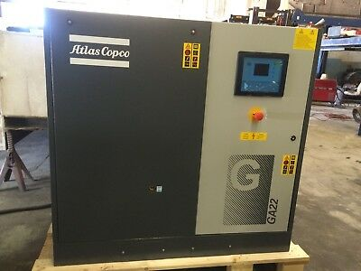 Atlas Copco Ga22 Rotary Screw Air Compressor 30 Hp