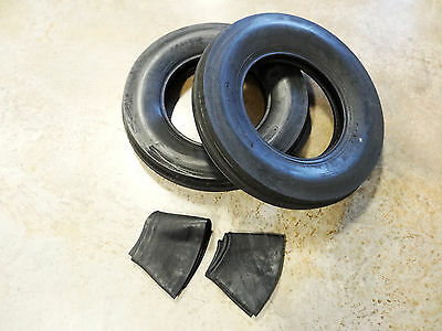 Two New 6.50-16 Deestone D401 Tri-rib Front Tractor Tires 6 Ply With Tubes